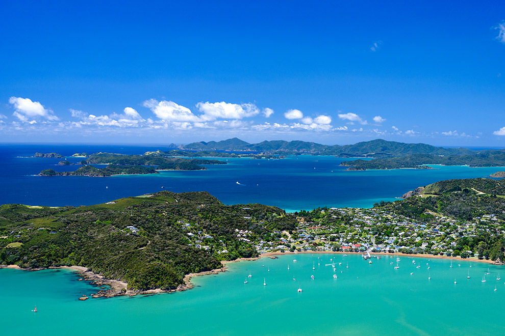 Bay of Islands Cruise Ship Info Aerial