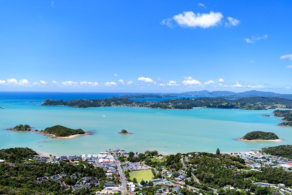 How to get to the Bay of Islands aerial